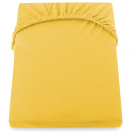 Žltá elastická plachta DecoKing Nephrite, 180–200cm