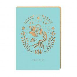 Linajkový zápisník Portico Designs Vodnár, 124 stránok