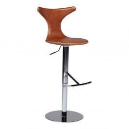 Hnedá barová stolička DAN– FORM Dolphin