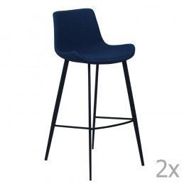 Sada 2 tmavomodrých barových stoličiek DAN– FORM Hype