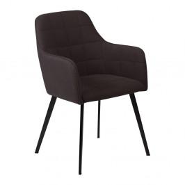 Čierna jedálenská stolička s opierkami na ruky DAN–FORM Embrace