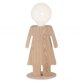 Drevená stolová lampa Homemania Anastasia