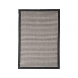 Čierny vonkajší koberec Floorita Chrome, 135×190 cm