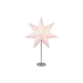 Biela svietiaca hviezda so stojanom Best Season Bobo Beige, 50 cm