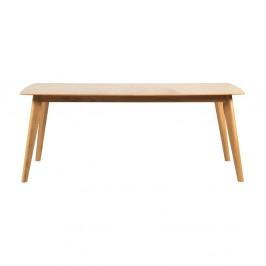 Rozkladací jedálenský stôl s nohami z dubového dreva Rowico Frey, dĺžka 190 cm
