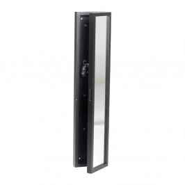 Čierna dubová skrinka na kľúče so zrkadlom Folke Sol