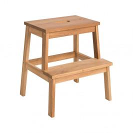 Prírodná dubová stolička / schodíky Folke Nanna