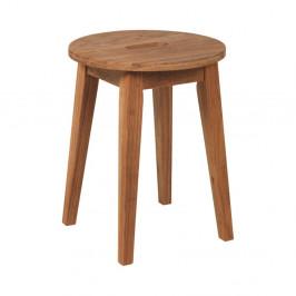 Prírodná nízka dubová stolička Folke Frigg