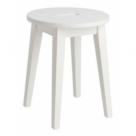 Biela nízka dubová stolička Folke Frigg