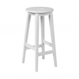 Biela barová stolička z dubového dreva Folke Frigg