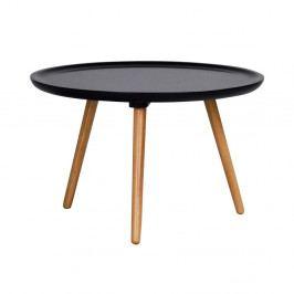 Čierny konferenčný stolík Folke Dellingr, ⌀55 cm