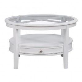 Biely okrúhly dubový konferenčný stolík Folke Nótt, ⌀ 85 cm