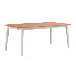 Prírodný dubový jedálenský stôl s bielymi nohami Folke Mimi, dĺžka 180 cm