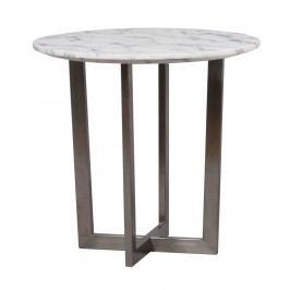 Čierno-biely konferenčný stolík Folke Phoenix, ⌀ 60 cm