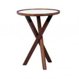 Dubový stolík vo farbe orechu Folke Sphinx, ⌀50 cm