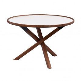 Dubový stolík vo farbe orechu Folke Sphinx, ⌀ 80 cm