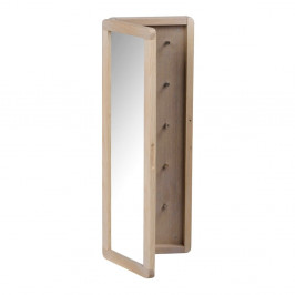Matne lakovaná dubová zrkadlová skrinka na kľúče Rowico Metro
