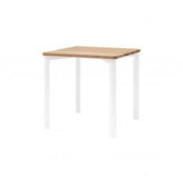 Biely jedálenský stôl so zaoblenými nohami Ragaba TRIVENTI, 80×80cm