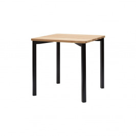 Čierny jedálenský stôl so zaoblenými nohami Ragaba TRIVENTI, 80x80cm