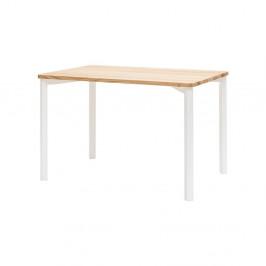 Biely jedálenský stôl so zaoblenými nohami Ragaba TRIVENTI, 80×120cm