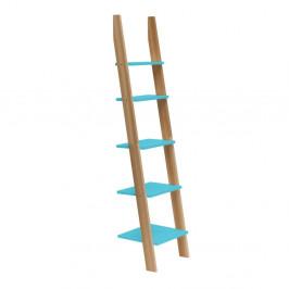 Tyrkysovomodrá rebríková polica Ragaba ASHME, šírka45cm