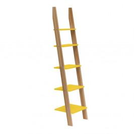 Žltá rebríková polica Ragaba ASHME, šírka45cm