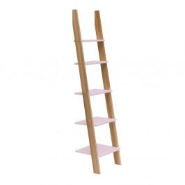 Svetloružová rebríková polica Ragaba ASHME, šírka45cm