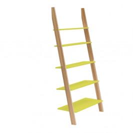 Žltá rebríková polica Ragaba ASHME, šírka85cm