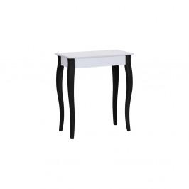 Biely konzolový stolík s čiernymi nohami Ragaba Lilo, šírka65cm
