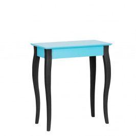 Tyrkysový konzolový stolík s čiernymi nohami Ragaba Lilo, šírka65cm