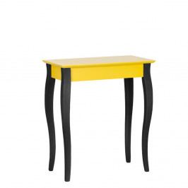 Žltý konzolový stolík s čiernymi nohami Ragaba Lilo, šírka65cm