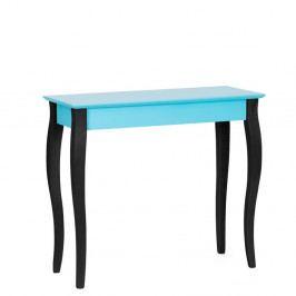 Tyrkysový konzolový stolík s čiernymi nohami Ragaba Lilo, šírka85cm
