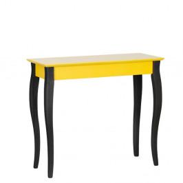 Žltý konzolový stolík s čiernymi nohami Ragaba Lilo, šírka85cm