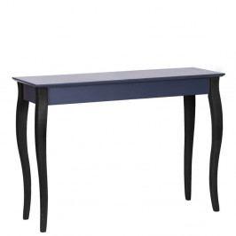 Grafitovosivý konzolový stolík s čiernymi nohami Ragaba Lilo, šírka105cm