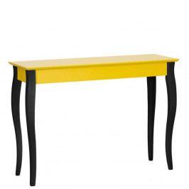 Žltý konzolový stolík s čiernymi nohami Ragaba Lilo, šírka105cm