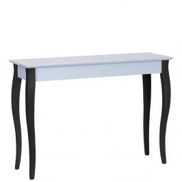 Svetlosivý konzolový stolík s čiernymi nohami Ragaba Lilo, šírka105cm