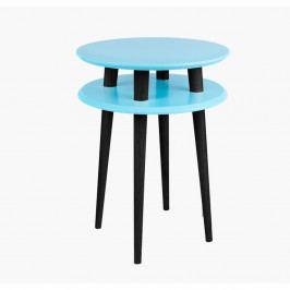 Tyrkysový príručný stolík s čiernymi nohami Ragaba UFO, Ø 45cm