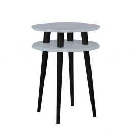 Tmavosivý príručný stolík s čiernymi nohami Ragaba UFO, Ø 45cm
