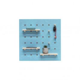 Modrý nástenný organizér Ragaba TRIVENTI, 60×60cm