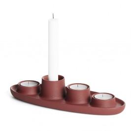 Svietnik vo vínovej farbe EMKO Aye Aye Four Candles