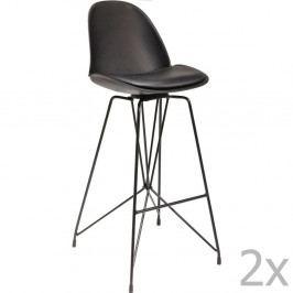 Sada 2 čiernych barových stoličiek Kare Design Wire Black