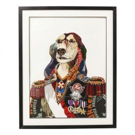 Obraz Kare Design Art General Dog, 72×90 cm