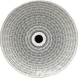 Čierno-biela tácka Kare Design Capetown, ⌀ 26 cm