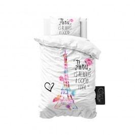 Biele obliečky z mikroperkálu Sleeptime Paris, 140 x 220 cm