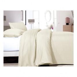 Krémové obliečky z mikroperkálu na jednolôžko Sleeptime Satin, 140×200cm