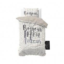 Obliečky z mikroperkálu Sleeptime Bonjour Amour, 140 x 220 cm