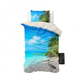 Obliečky z mikroperkálu Sleeptime Beach Heron, 140 x 220 cm