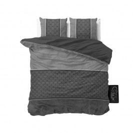 Antracitové obliečky z mikroperkálu Sleeptime Luxury Barock, 200 x 220 cm