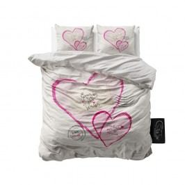 Obliečky z mikroperkálu Sleeptime Post Love, 240 x 220 cm