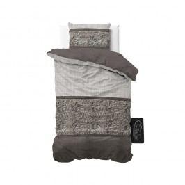 Sivé obliečky z mikroperkálu Sleeptime Warm Skin, 140 x 220 cm